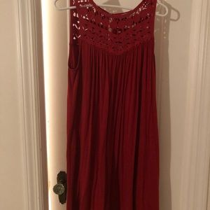 Red shift Lacey dress